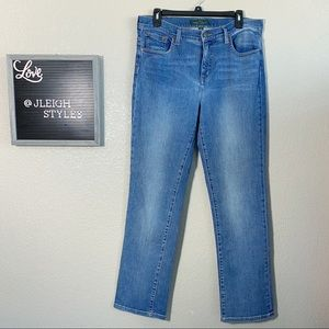 LRL Classic Straight Medium Wash Blue Jeans